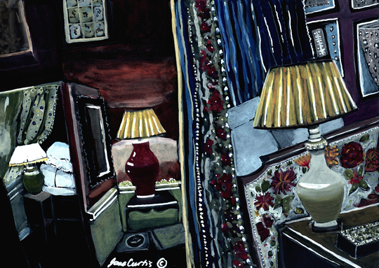 Bedroom With Lamps