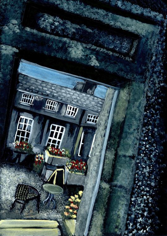 Courtyard, Russborough House, Ireland L