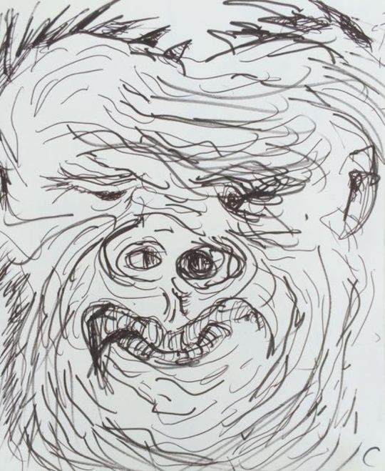 'Untitled (Portrait of a Hairy Ape)'