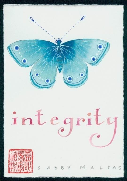 """Gabby Malpas - Words to live by Series """"Integrity"""