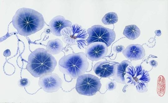 Gabby Malpas - Blue Nasturtium