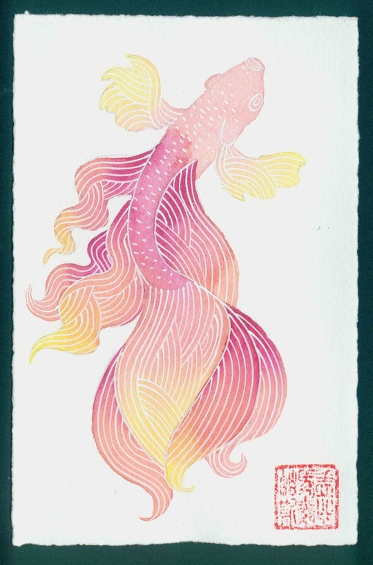 """Gabby Malpas - """"Don't ask me why""""  #1 - Siamese fighting fish series"""