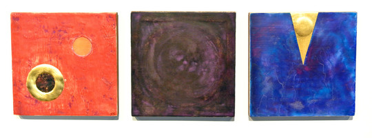 Triptych - My Lovely Other Particle, Shimmers in the Dark Matter, Found in the Cloud of Unknowing