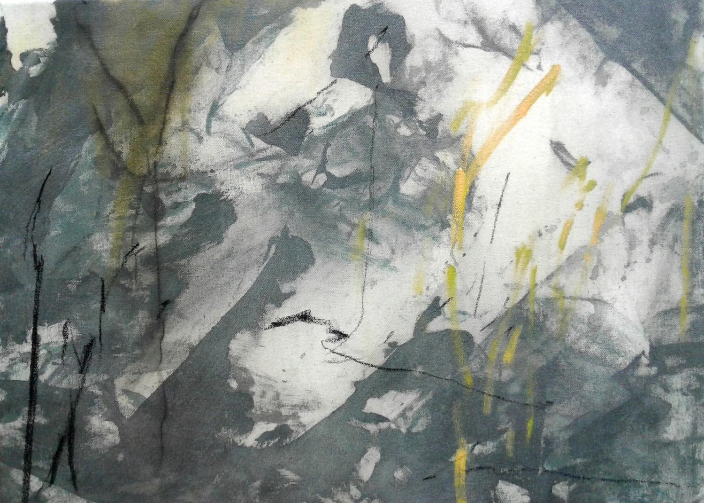 Amanda Watson - Painting on a Cold Day in the Manuka, Whaingaroa Raglan