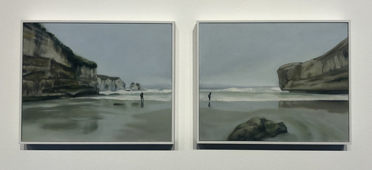 You Hem Me In Behind and Before (Diptych)