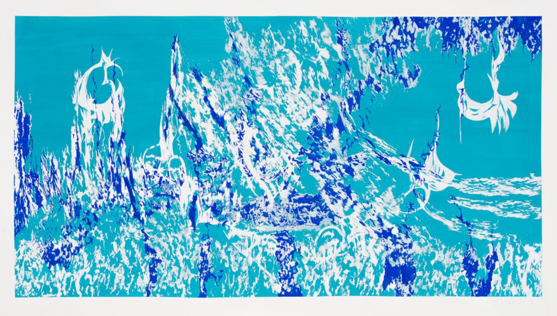 Arabella Caccia - Circus, Composition in Turquoise