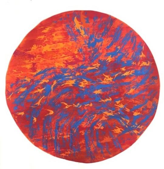 Tondo on Reds and Orange